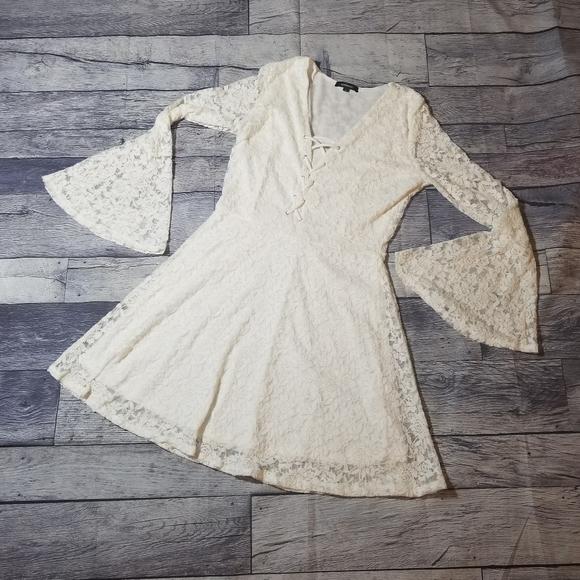Ambiance white lace dress large